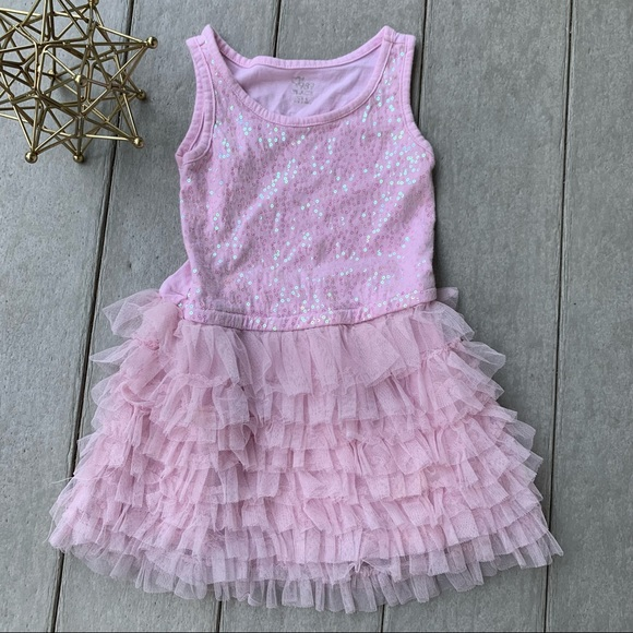 The Children's Place Pink sequined tutu dress 4T